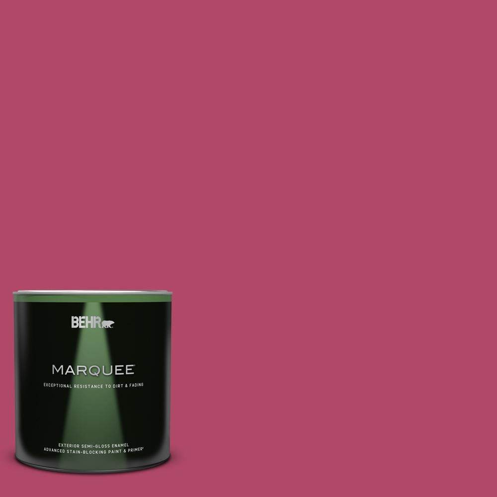 BEHR MARQUEE Home Decorators Collection 1 qt. #HDC-SM16-04 Bing Cherry Pie Semi-Gloss Enamel Exterior Paint and Primer-545304 - The Home Depot