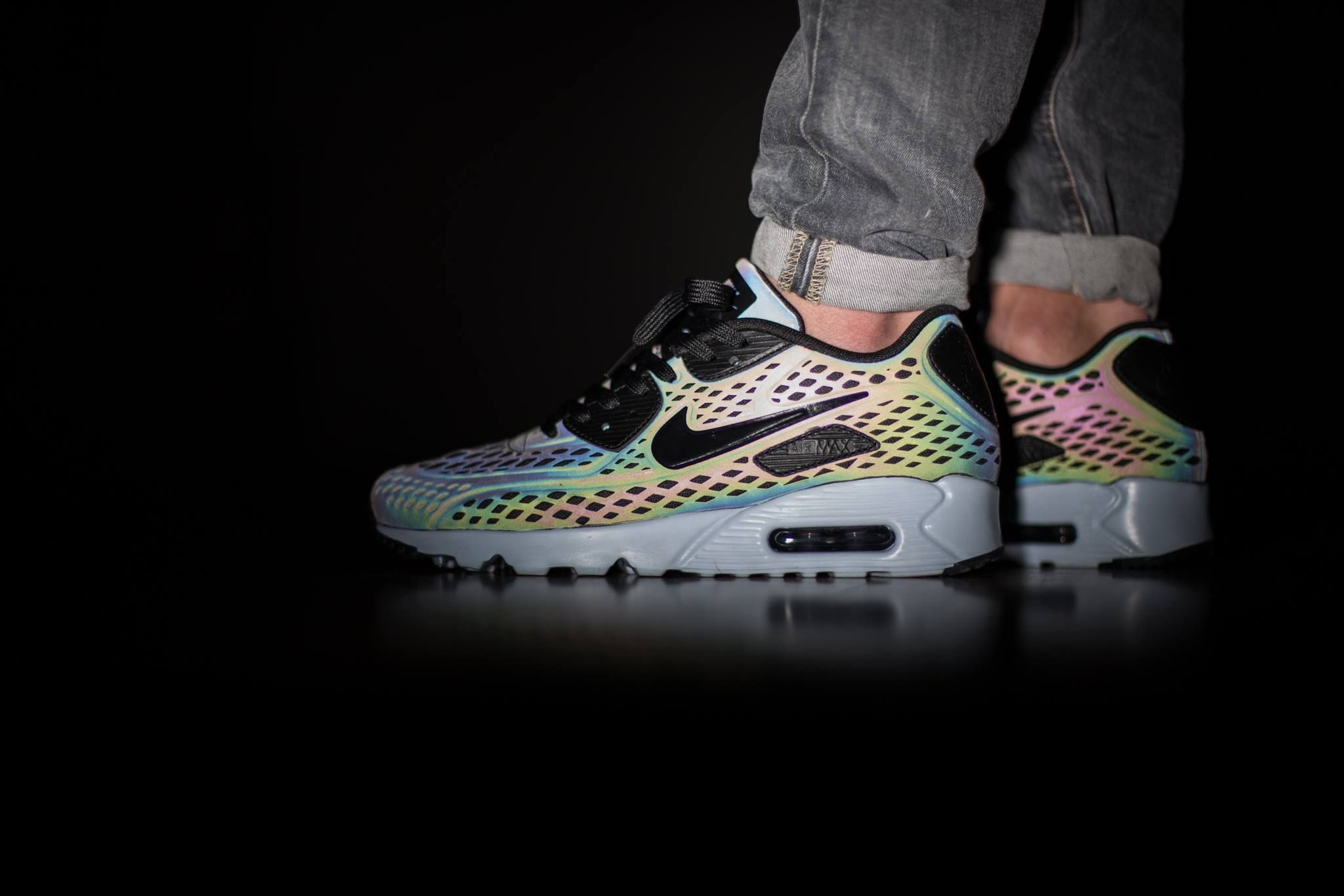 "Air Max 90 Ultra Moire Iridescent nike air max 90 ultra moire quickstrike ""holographic""  nike"