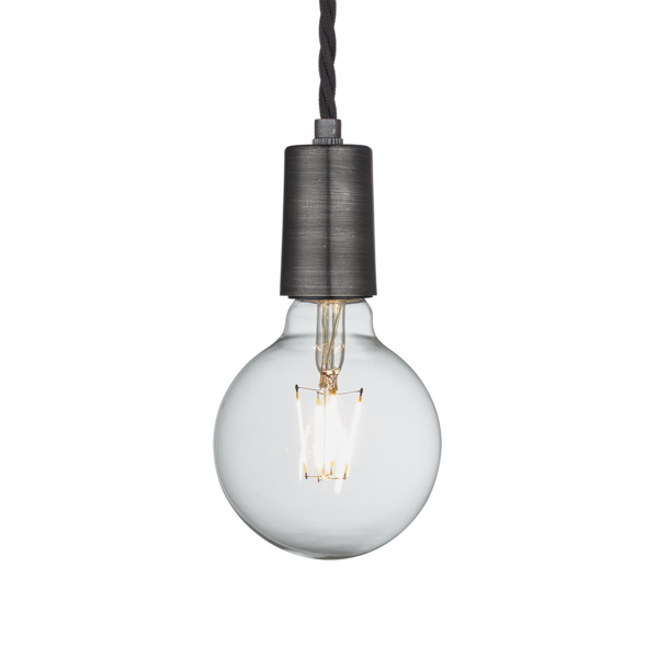 Vintage Sleek Edison 1 - Wire Pendant - Pewter | Wire pendant ...