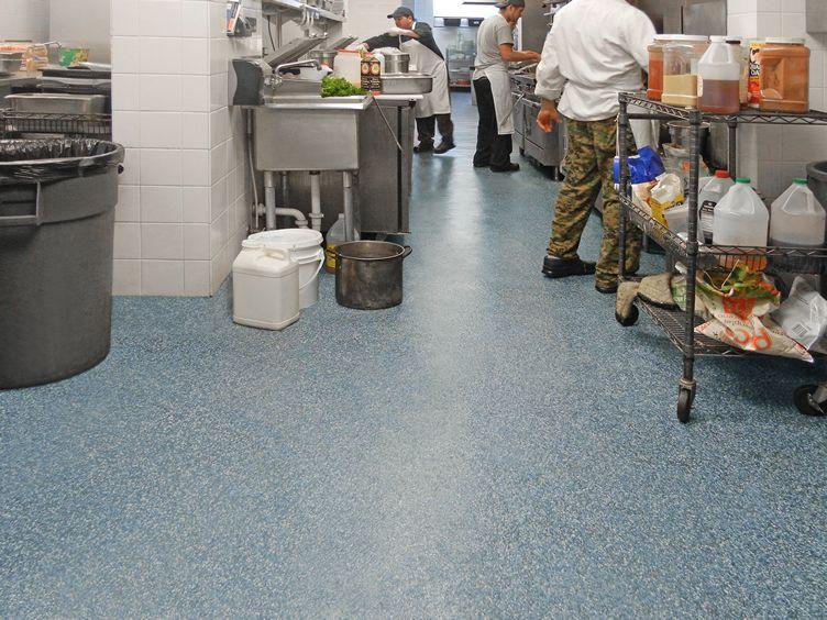 Healthy Hygienic Commerical Kitchen Restaurant Flooring Restaurant Flooring Epoxy Floor Flooring