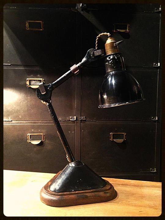 Top Ancienne lampe d'architecte. Lampe Gras n° 207. De Bernard-Albin  DZ35