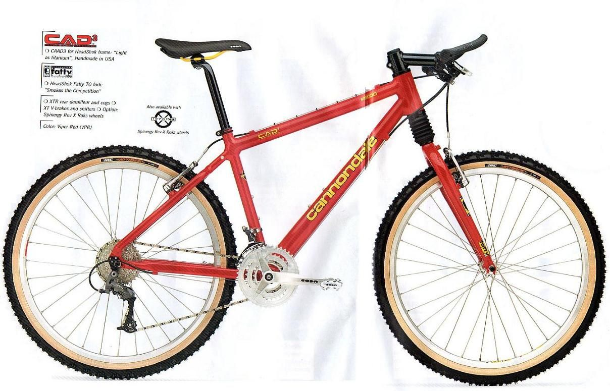 2c3f5ae82f8 Cannondale F2000, Viper Red (1997) CAAD3 Front Susp. Bike | Mountain ...