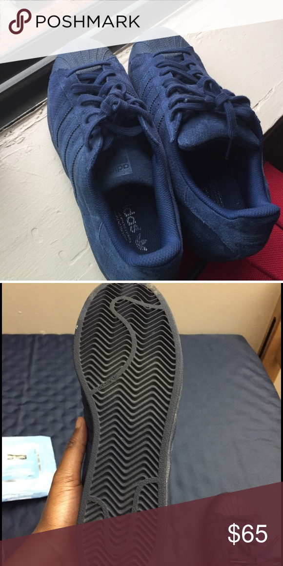 size 40 d2c8f 2fa47 1239f bf422  sweden dark blue adidas superstar fairly new only been worn a  few times adidas shoes sneakers