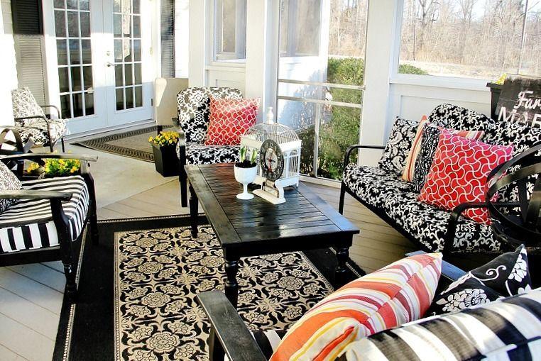 Porch Decorating Ideas Decor, Living room designs, Porch