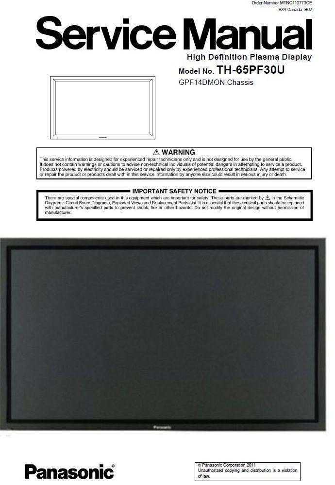 Pin On Panasonic Television Service Manuals