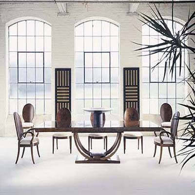 Omni Collection Maple Veneer Dining Table Century Furniture