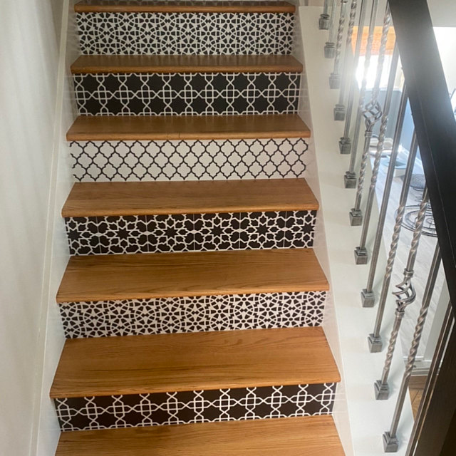 Amalfi Peel And Stick Stair Riser Vinyl Strip Self Adhesive Waterproof Easy To Trim Removable Diy Decor Extra Long 49 Length Flooring For Stairs Stair Riser Vinyl Wall Tiles