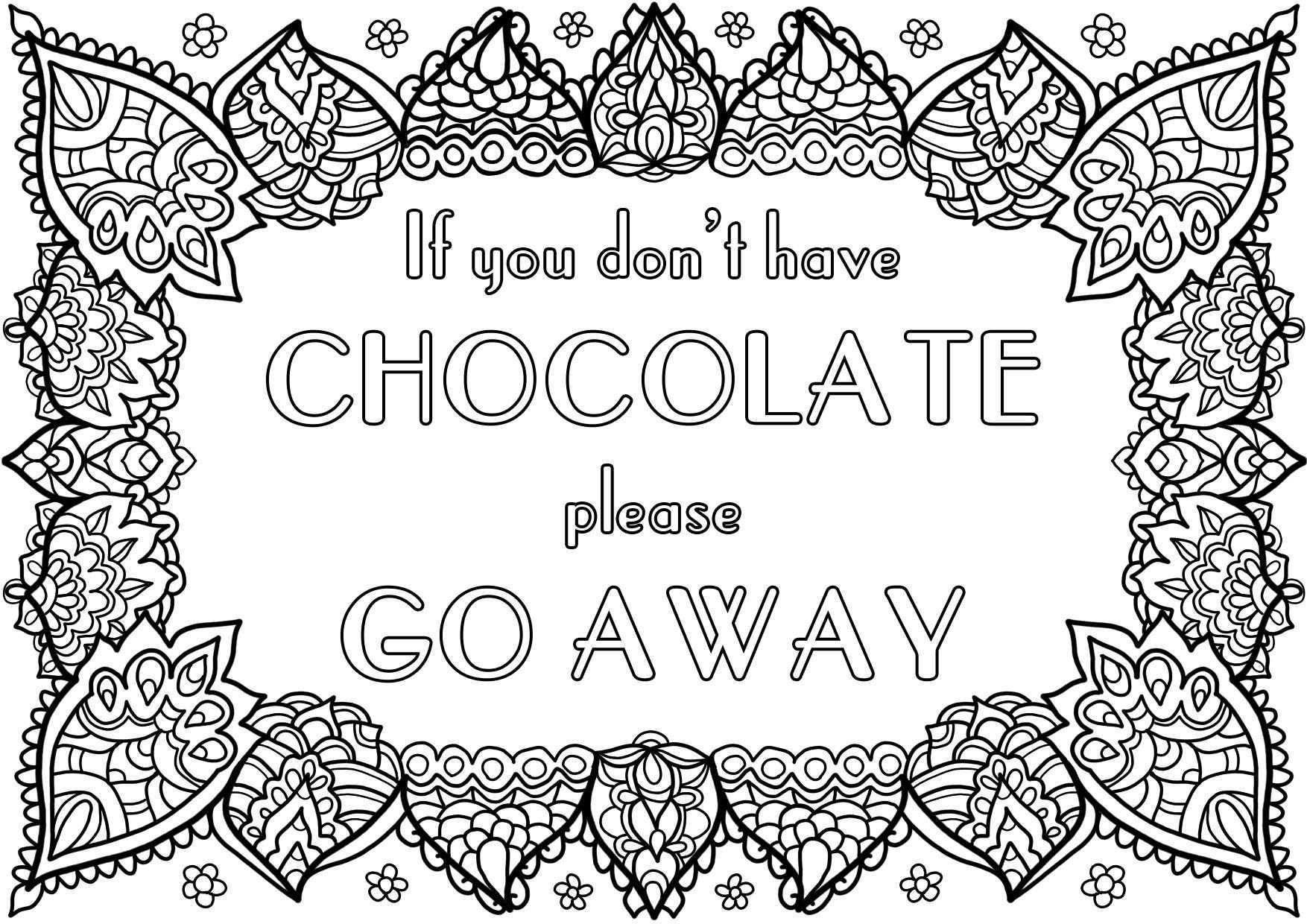 Chocolade Kleurplaten Teksten Kleuren