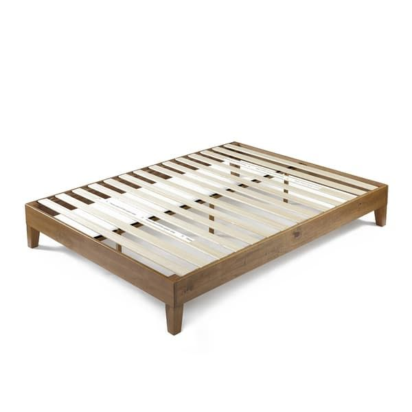 Priage By Zinus Deluxe Solid Wood Platform Bed Rustic