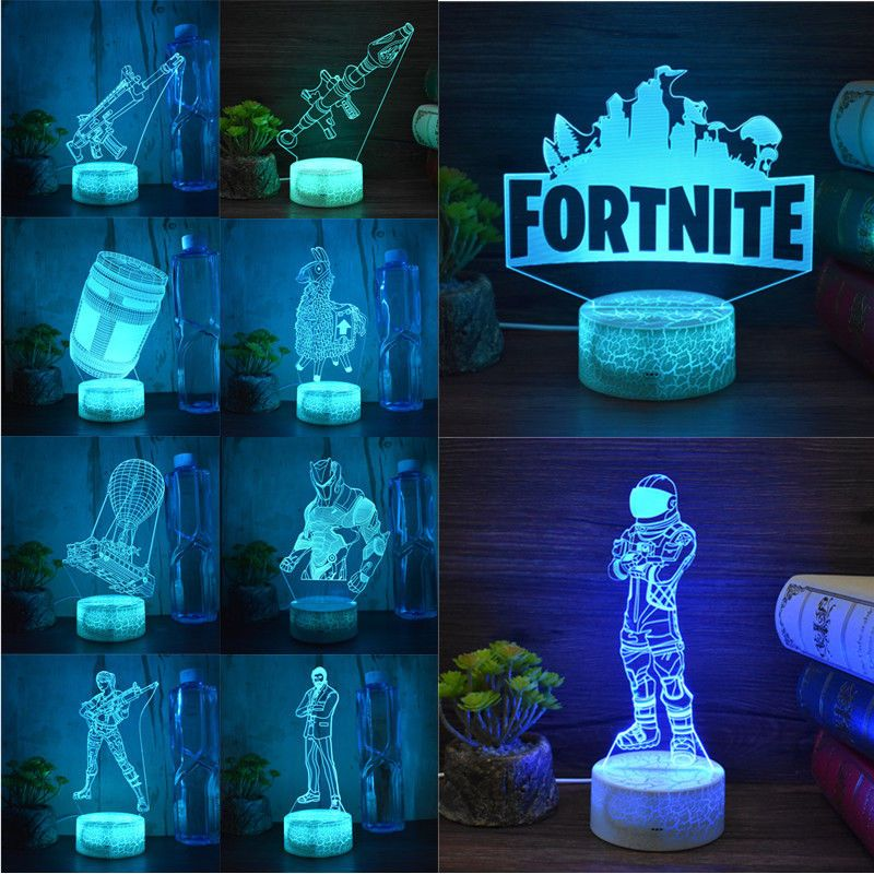 Battleroyale Game Fortnite 3d Led Night Light Action