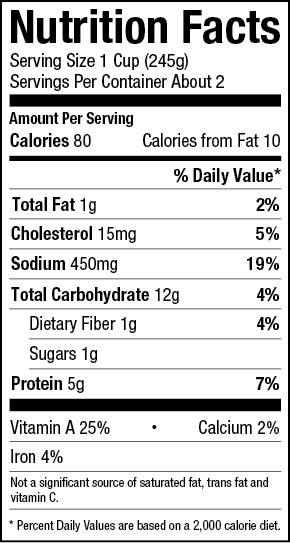 Chicken Noodle Soup Nutrition Label Chicken Noodle Nutrition Labels Noodle Soup