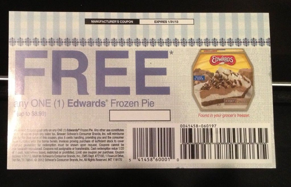 photo regarding Edwards Pies Printable Coupons named Absolutely free Products Coupon for Edwards Pie Giveaway Innovative