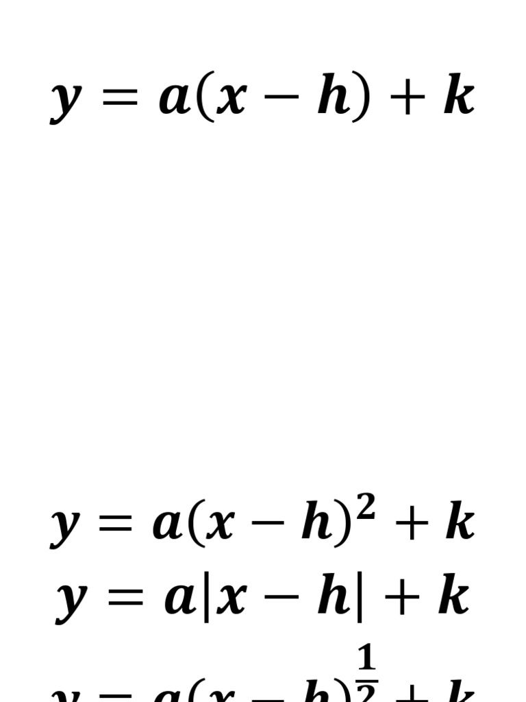 Transformations in h k form | Math! | Pinterest | Math