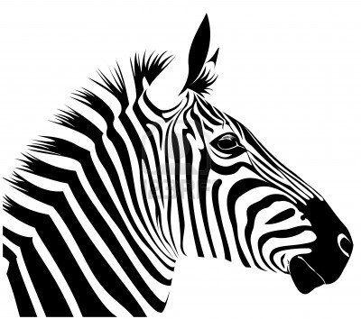 Zebra Cabeza Pintura De Cebra Plantillas De Animales Cosas De Cebra