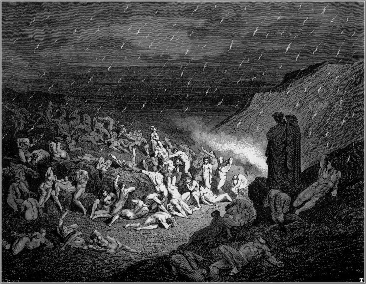 The Divine Comedy Gustave Dore Black And White Wall Art Canvas Prints