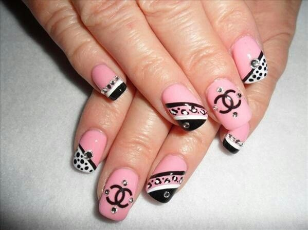 Chanel Nail Design Nails Addicts Pinterest Chanel Nails