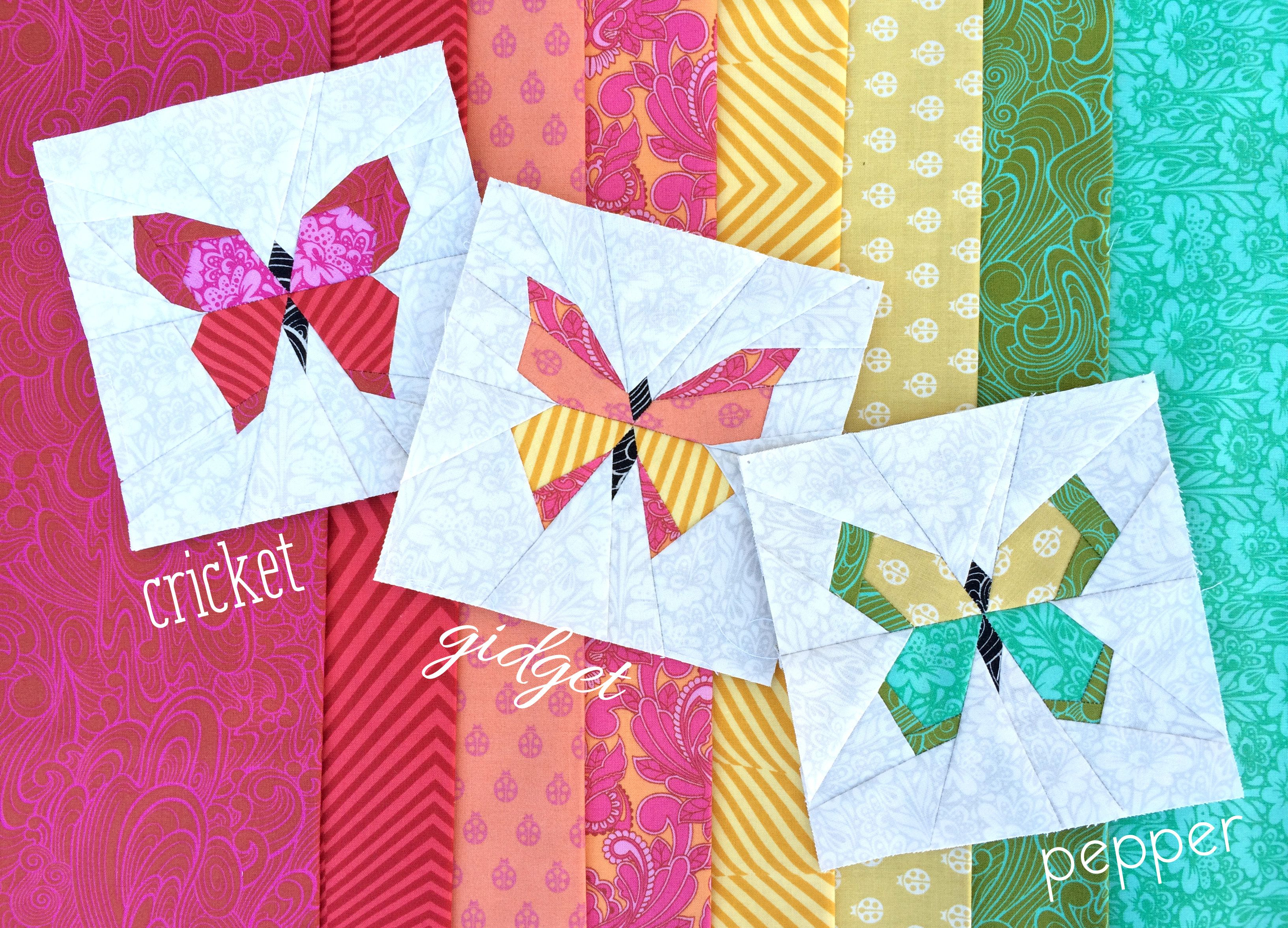 Butterfly Charm Blocks | Free Paper Piecing Pattern by ...
