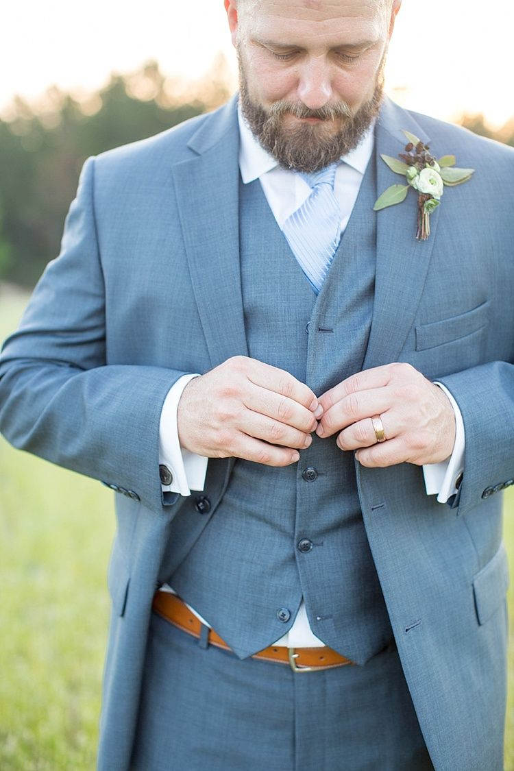 Intimate Farmhouse Wedding in South Carolina | Groom style, Veil and ...