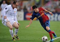 Rooney is a once in a generation player Messi pays tribute Englands all-time leading scorer.
