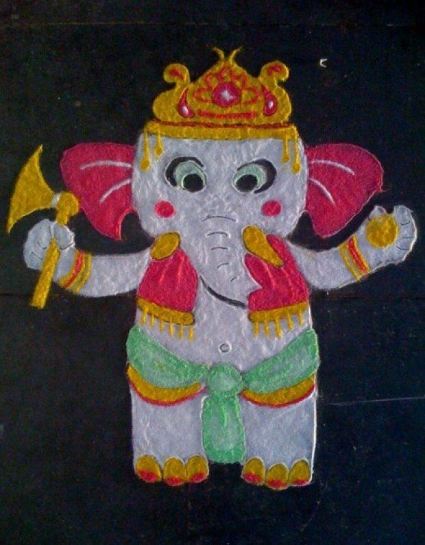 easy diwali rangoli designs for kids HappyShappy India