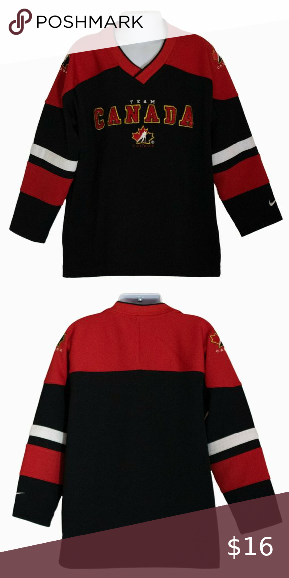 Boy S Nike Hockey Team Canada Jersey Size 6 In 2020 Boys Nike Nike Shirts Hockey Teams