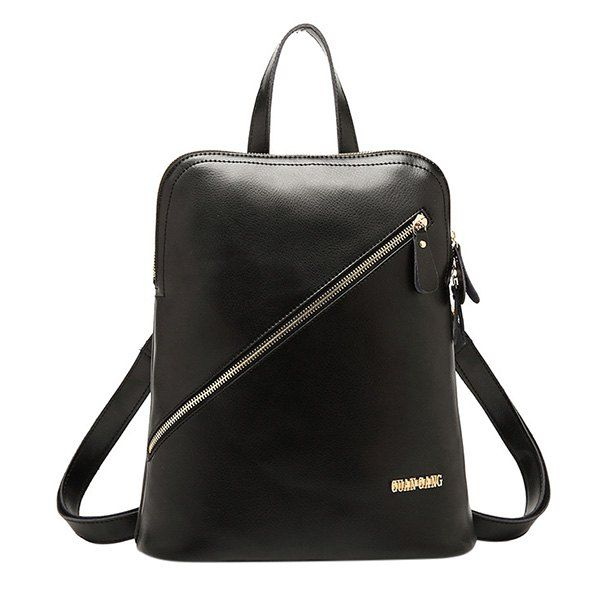 $19.44 Stylish Women's Satchel With Zippers and Metal Design