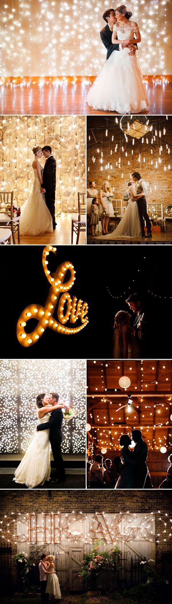 16 Magical Lighted Wedding Backdrop Wedding reception