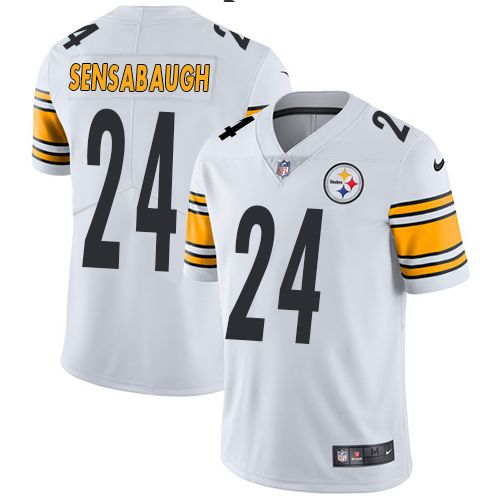 27496c622 Youth Nike Pittsburgh Steelers  24 Coty Sensabaugh White Vapor Untouchable  Limited Player NFL Jersey