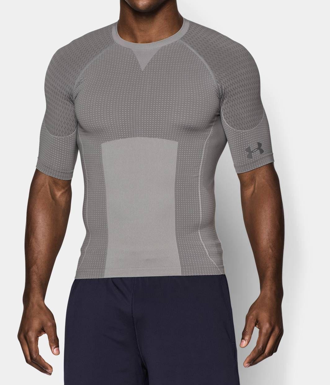 Men S Captain America Ua Seamless Compression Shirt Under Armour Us Kleding Stijl