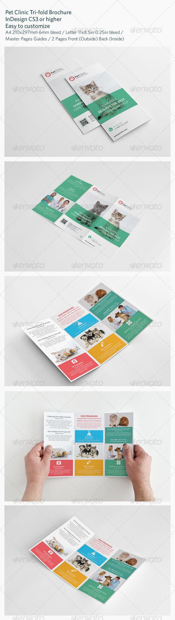 pet clinic tri fold brochure brochures print templates brouchure