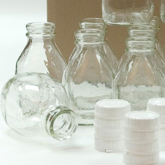 16 Oz Squat Pint Glass Milk Bottle 48mm 48 Snap Glass Milk