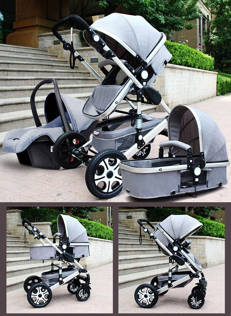 Gold Baby Brand Baby Stroller 3 In 1 With Car Safety Seat Baby