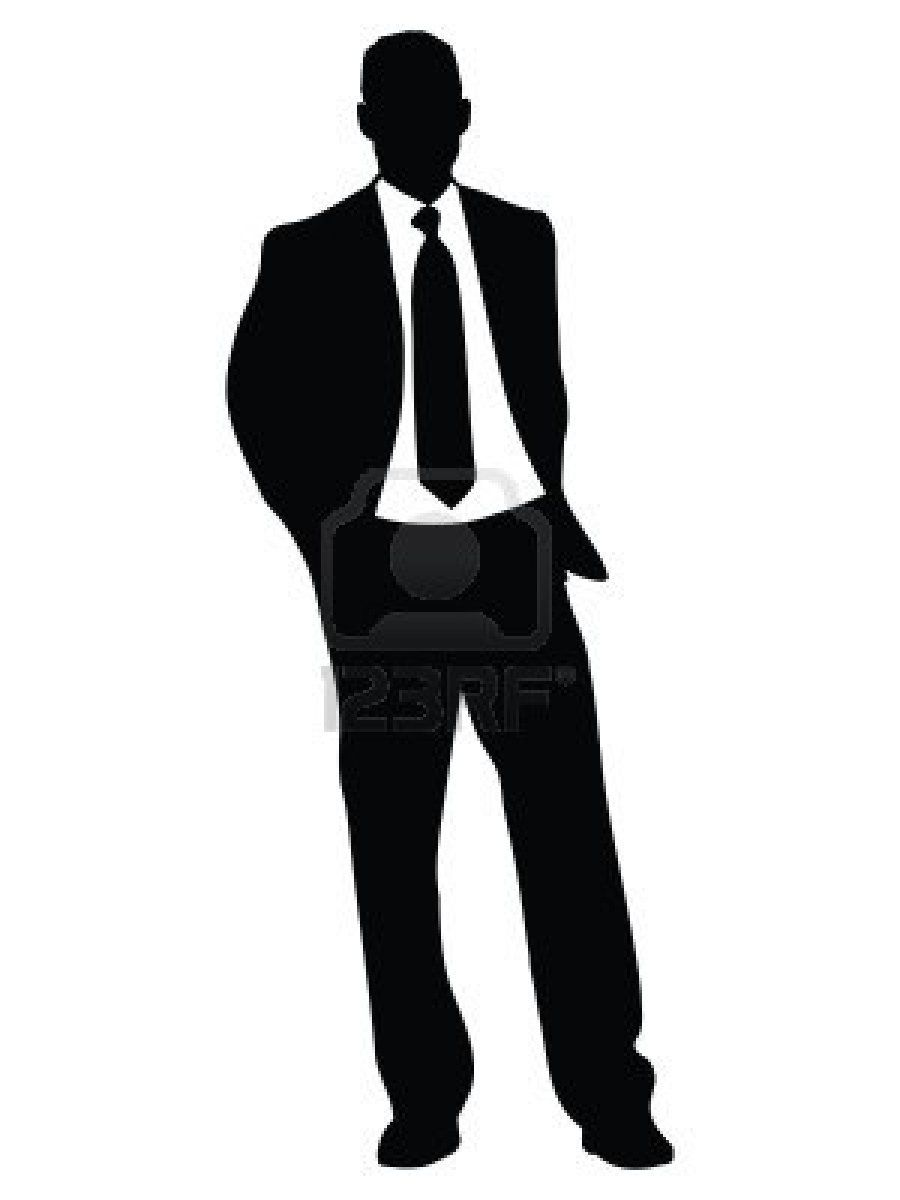 Celebrating Man Silhouette Clip Art | Man Standing ...