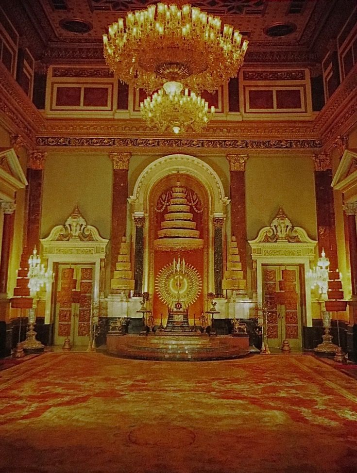 Bangkok Thailand Chakra Maha Prasads Palace Throne Room The Only Areas Still In Use In The Palace Are The Reception Rooms Where This Splendidly Decorated Th