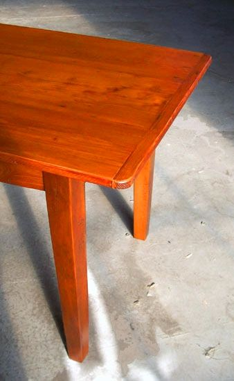 7ft Farmhouse Tables With Fruitwood Finish U0026 Straight Legs