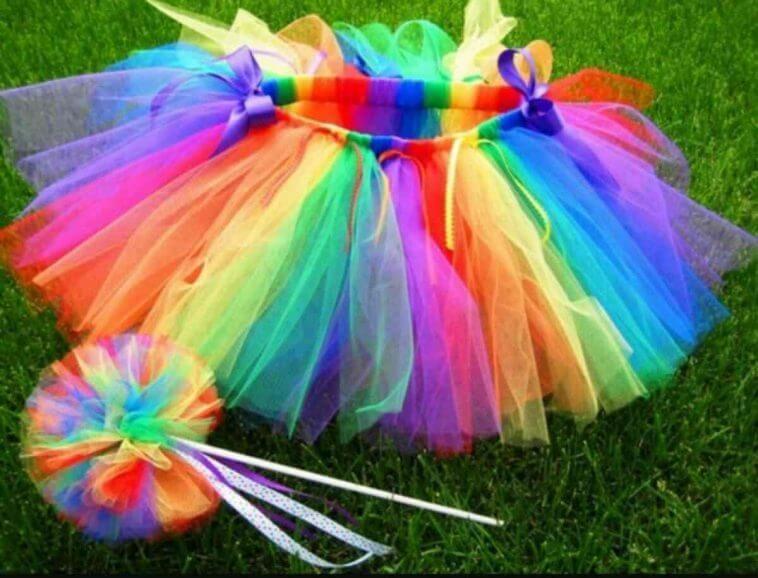 Como Fazer Saia Bailarina Tule Tutu 15 Color Rainbow Tutu