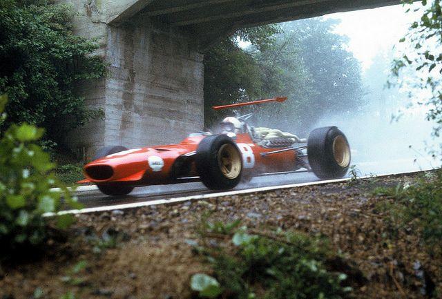 Chris Amon driving a Ferrari 312/68 at the Gran Prix of Germany 1968 //