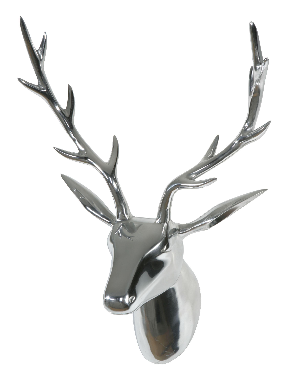Dieser Glanzende Hirschkopf Ist Aus Gegossenem Aluminium