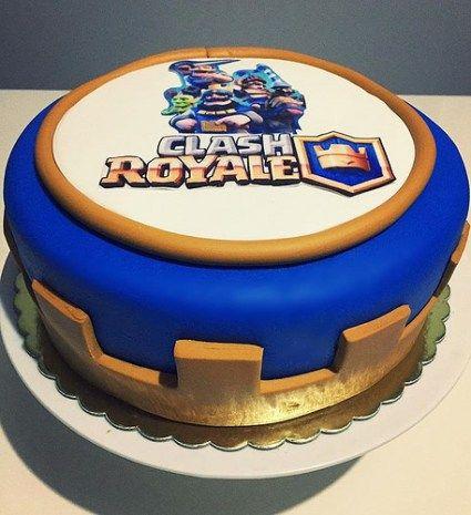 Decoración de Tortas y Pasteles de Clash Royale para Cumpleaños - decoracion de cumpleaos
