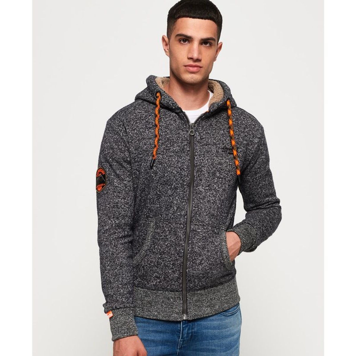 Gilet À Capuche Zippé Mountain Orange Label - Taille   S 2XL ... 7beb44cbcddb