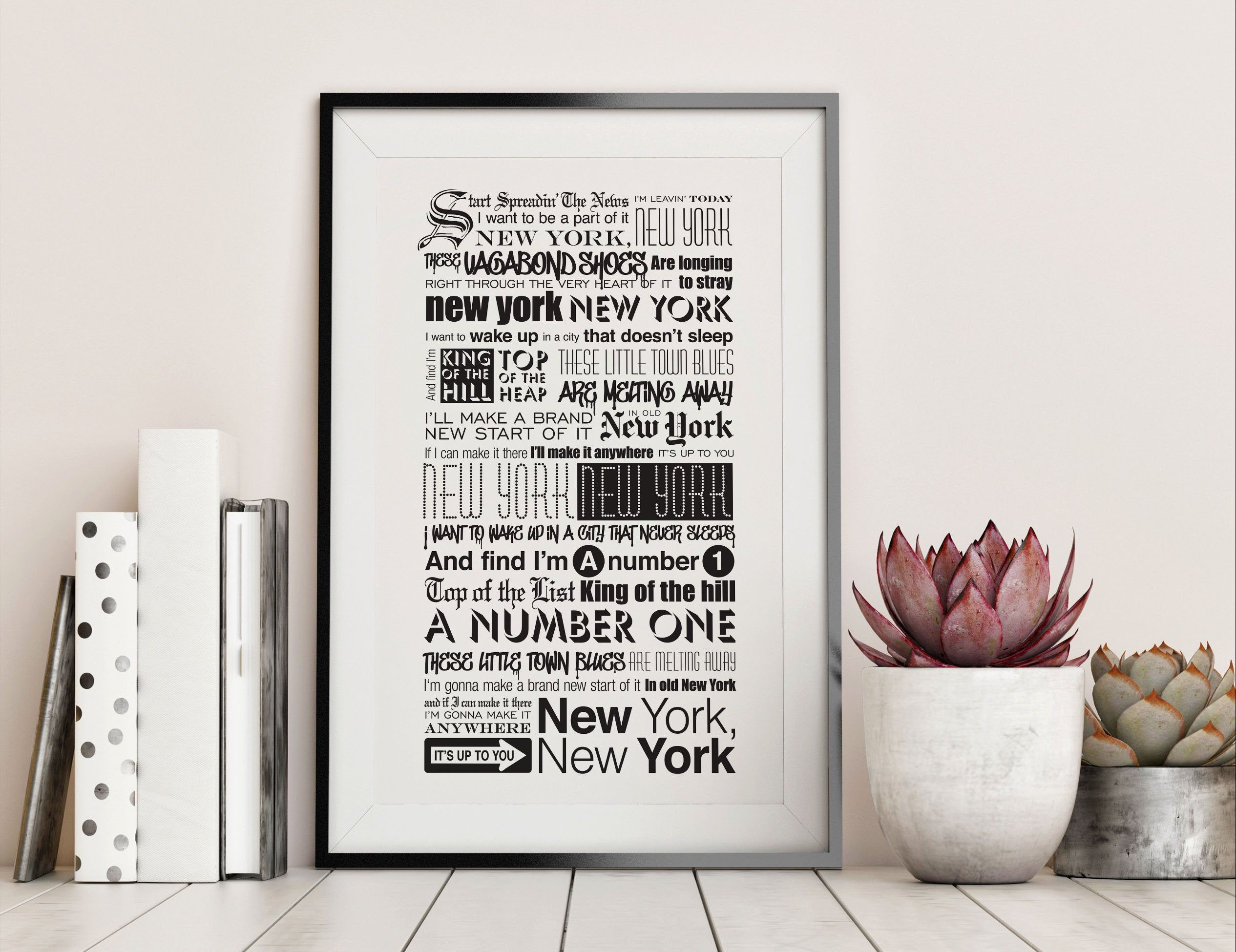new york new yorkfrank sinatra lyrics typography