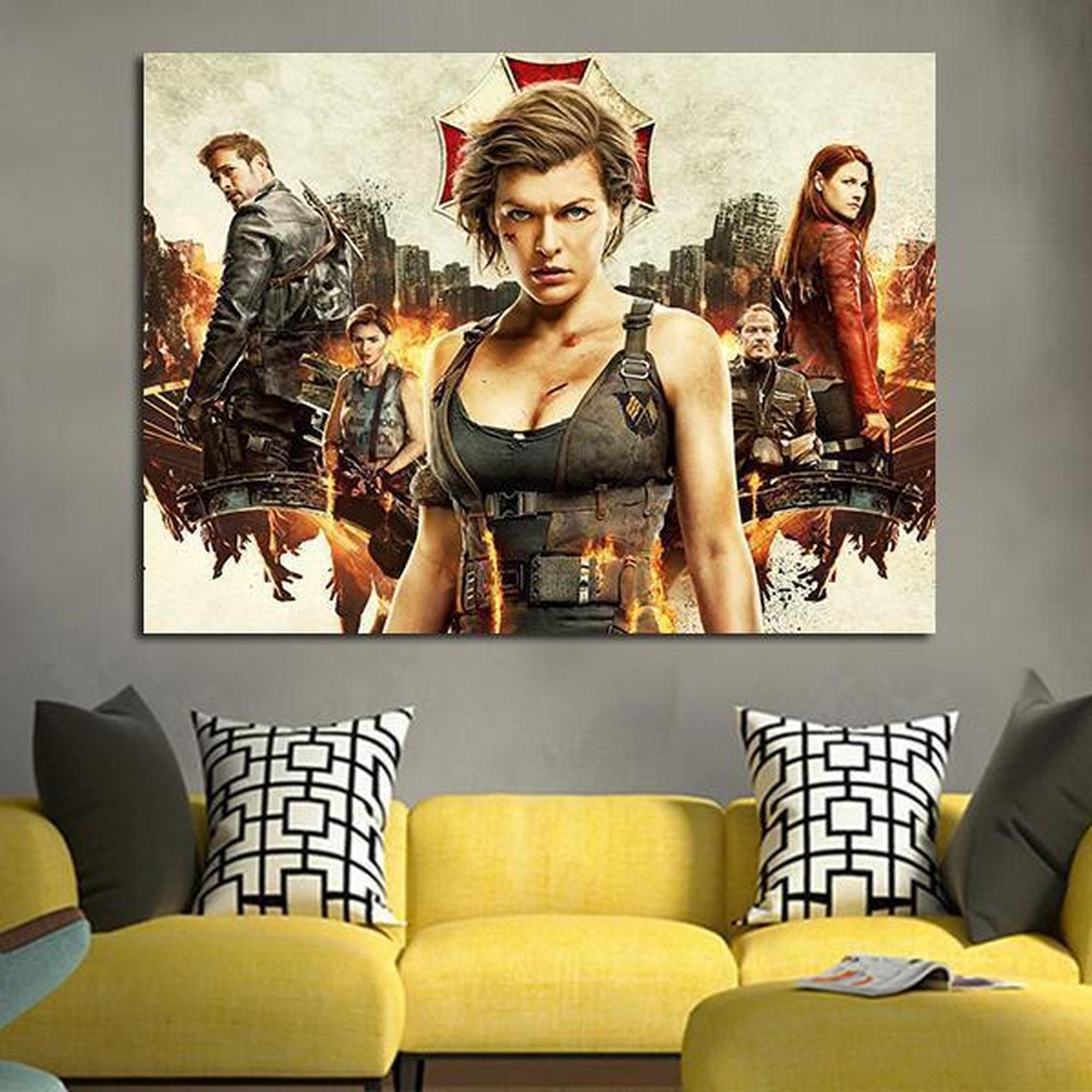 Resident Evil Retribution Alice Movie 1 Piece Canvas Wall