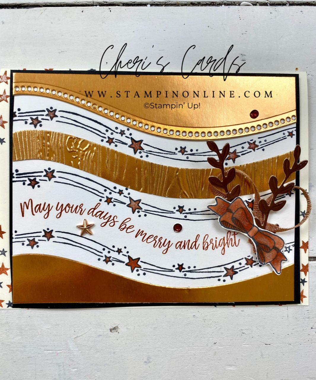 Curvy Christmas Quick & Easy Glimmer Card: Class R