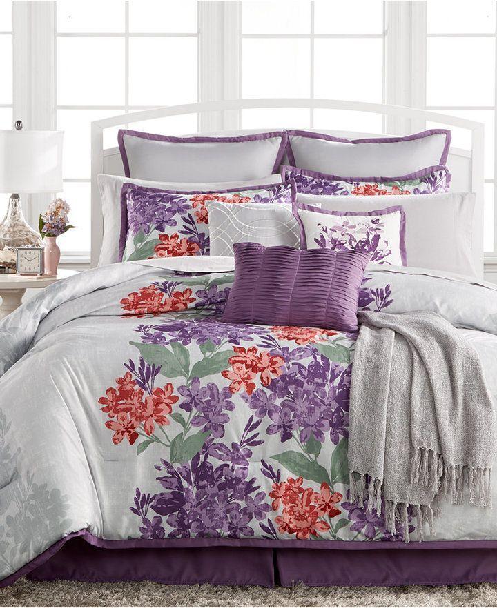 Clover 14 Pc King Comforter Set 199 99 King Comforter Sets Queen Comforter Sets Comforter Sets Purple california king comforter sets