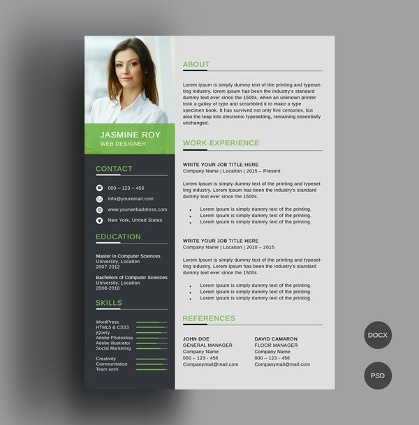 free simple cv  resume template