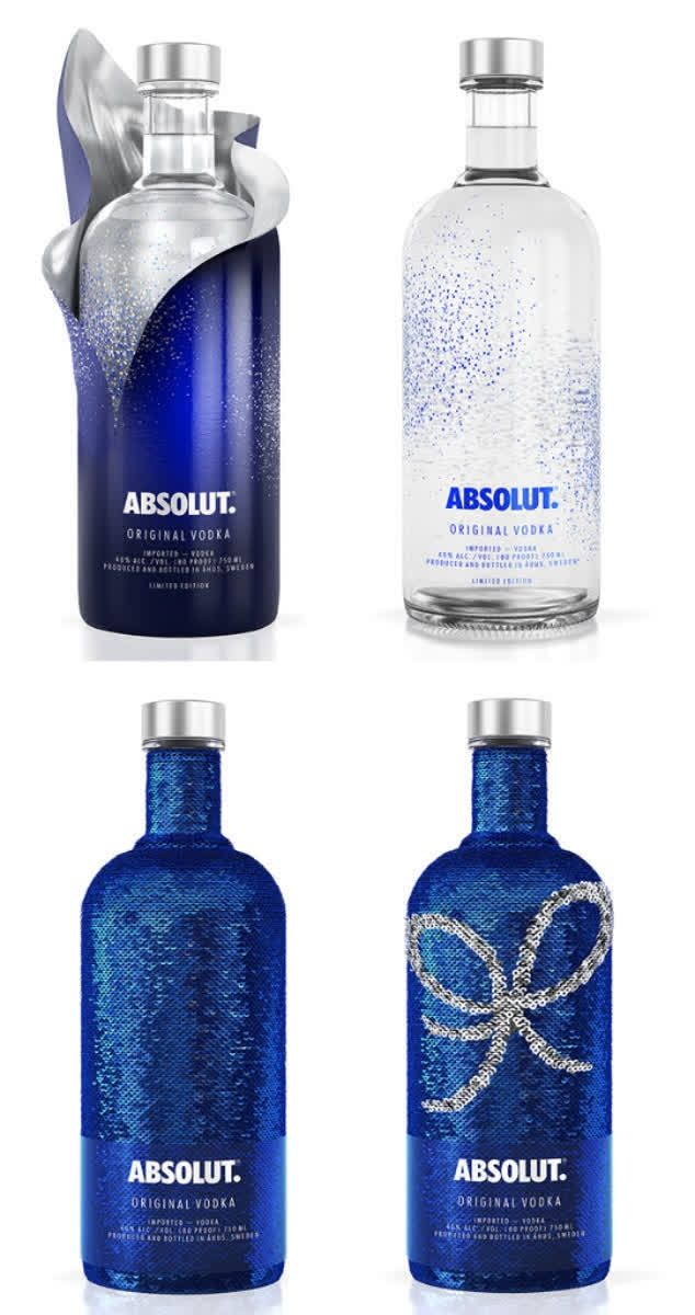 absolut uncover sequin bottle has flip effect for creating messages