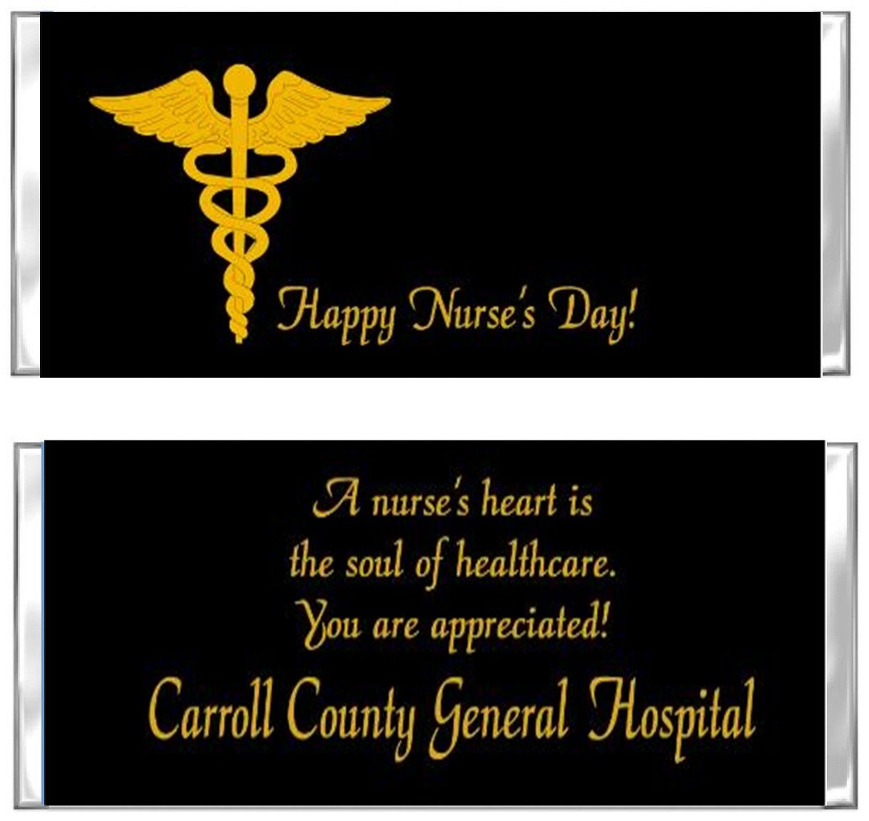National Nurses Week Candy Wrapper Nurse Caduceus