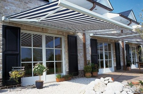 Black And White Awnings Pergola Ideas For Patio House Exterior Patio Awning