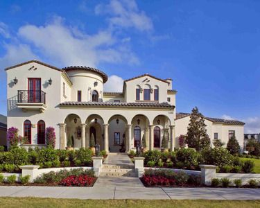 Plan 82005ka Spanish Villa With Studio Mediterranean Style House Plans Spanish Style Homes Spanish House