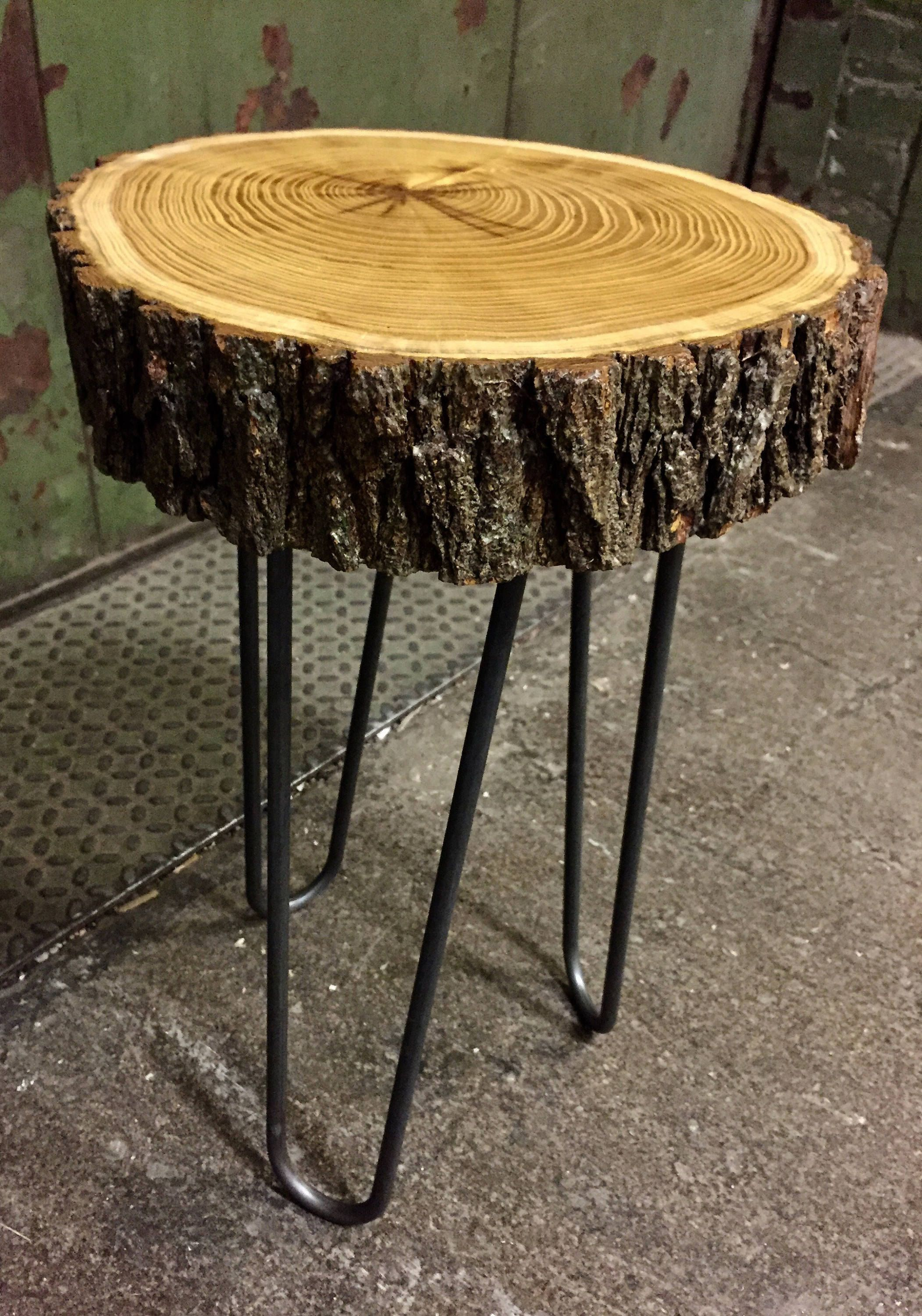 Live Edge Table Accent Table End Table Modern Rustic
